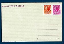 ITALIA REP. - Biglietto postale - 1966 - SIRACUSANA - 40 lire rosso ciclamino