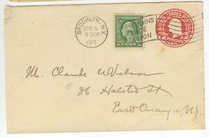 1919 Brooklyn New York 2ct PSE uprated - Saint Johns Place Station flag cancel