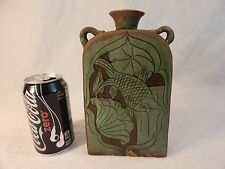 Jizhou Kiln Green Flat Flask of Song/Jin Dynasty (1115-1234AD)