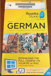 Rosetta Stone Learn German Home/office