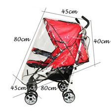 Universal PVC Rain Cover Protector For Baby Jogger Pushchair Stroller Buggy Pram