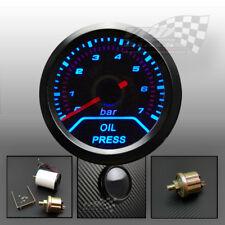 """Manómetro de aceite azul LED de nuevo Bisel ahumado cara 2"""" 52 mm Interior Dash Mount"""