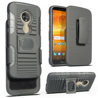 Rugged Kickstand Holster Case Belt Clip Cover For Motorola Moto E5 Play/Cruise
