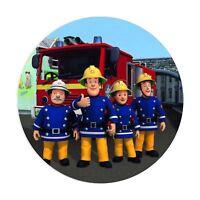 Fondant Tortenaufleger Tortenbild Geburtstag Feuerwehrmann Sam T9   ( W )