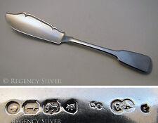 Antique Victorian Heavy 62 g Solide Argent Sterling Anglais couteau à beurre épandeur