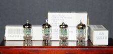 4 each GE JAN 5654 W / 6AK5 / EF95 / M8100 / Military Preamp Tubes NOS low noise