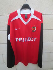 VINTAGE Maillot rugby STADE TOULOUSAIN Nike rouge shirt XXL Toulouse Peugeot
