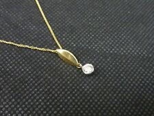 Diamond .25ct Solitaire Pendant On 9ct Gold Chain