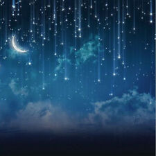 10x10FT Christmas Vinyl Moon Glitter Star Night Backdrop Studio Background Props