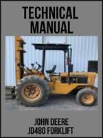 John Deere JD480 Forklift Technical Manual TM1016 On USB Drive