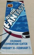 "NHL Hockey All Star Fantasy Original 2001 Heavy Vinyl 90""X30"" Ceiling Flag  Rare"