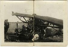 PHOTO ANCIENNE - VINTAGE SNAPSHOT - AVION ACCIDENT - PLANE CRASH 1926