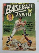 Baseball Thrills #10 Bob Feller 1951 [3.0 G/VG] Low Grade Golden Age Sports