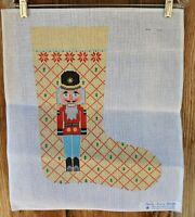 HandPaintd Needlepoint Canvas TeriSu Austin Design Christmas Stocking Nutcracker