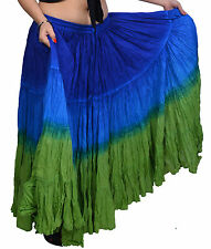 25 Yd Indian Tribal Dance Cotton Skirt color blue & green