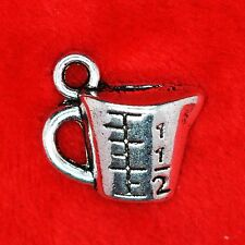 6 x Tibetan Silver Measuring Cup Cooking Baking Charm Pendant Jewellery Making