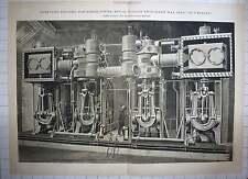 """Compuesto de 1888 motores 20,000 HP Royal italiano buque de guerra """"re Umberto"""""""