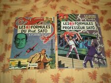 BLAKE ET MORTIMER 3 FORMULES SATO LOT DES 2 TOMES EDITION 1982 ET EO 2e TIRAGE