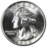 1960 25c Washington Silver Quarter US Coin Uncirculated Mint State