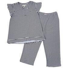ELLEN TRACY Black & White Stripped  PRINT PAJAMAS 2X
