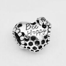 Authentic Pandora BEE HAPPY HONEYCOMB CHARM W/ Pandora TAG & HING BOX #798769C00