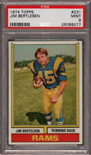1974 TOPPS # 231 JIM BERTLESEN ☆RARE☆ LOS ANGELES L.A. LA RAMS PSA 9 MINT