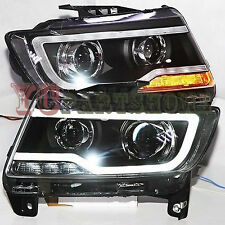 2007-2015 Year For Jeep Compass LED Strip Headlights Bi Xenon Projector Lens