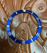 Rolex Submariner Blue Gold Bezel Insert 16613 16618 16803 16808 Fat Font 100%OEM