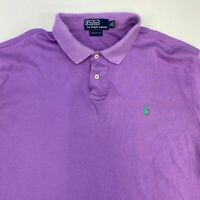 Polo Ralph Lauren Polo Shirt Men's XL Short Sleeve Purple Custom Fit 100% Cotton