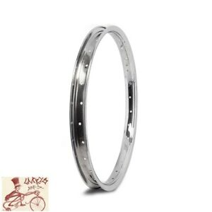 "WHEEL MASTER 004A STEEL  28H---18"" CHROME BICYCLE RIM--SINGLE"