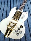 Custom Factory High-Quality Standard Cream Color Electric Guitar Fast Shipping for sale