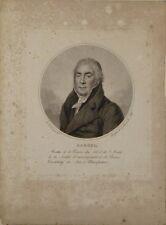 """Gravure au pointillé de A.A. BOURGEOIS DE LA RICHARDIERE, """"Portrait de Bardel"""""""