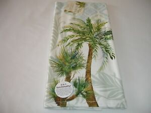 New! Beach Tropical Palm Trees Dish Towel Kitchen Dual Purpose Cotton Dish Towel