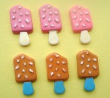 20 Ice-cream Stick Resin Flatback Button/Bead/Craft/bow/Summer Theme Design B69