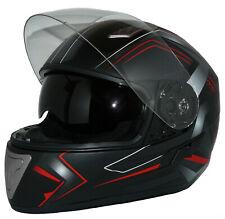 Motorradhelm Integralhelm H520-Arrow-RT schwarz-rot mit Sonnenblende Gr. XS - XL