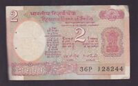 India 2 Two Rupees Paper Banknote  I-235