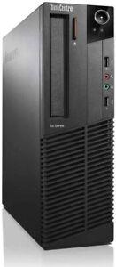 Lenovo ThinkCentre M71e SFF Desktop PC - Intel 3.1GHz 4GB 160GB Win7 pro