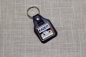 Opel Kadett C Keyring - Leatherette and Chrome Keyfob