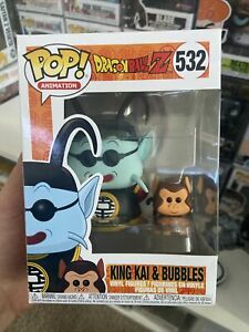 FUNKO POP! ANIMATION - DRAGON BALL Z KING KAI & BUBBLES #532 NEW**