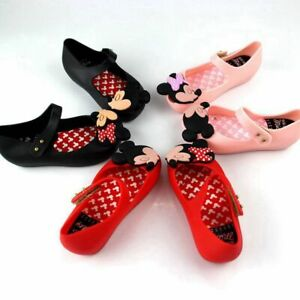 Mini Melissa Child's Sandals Cartoon Mouse Girl Jelly Kid Shoes US Size 6-11