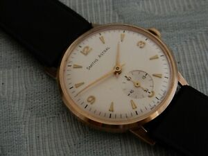"""Original 9ct Gold Smiths """"Astral"""" Sub Seconds Gent's W/W 1971, from estate"""