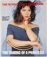 KARL LAGERFELD Caroline of Monaco KENZO Princess RARE The Sunday Times MAGAZINE