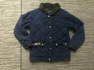 Vineyard Vines Boys 5 Quilted Jacket Blue Full Zip Lined 3O0123