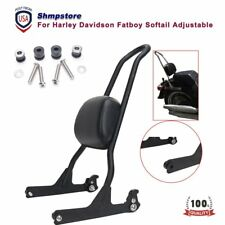 Sissy Bar Detachable Backrest For Harley Davidson Fatboy Softail FXST FLST