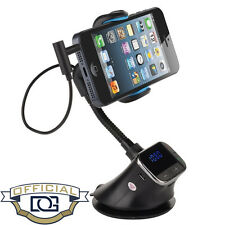 FM TRANSMITTER CAR KIT CHARGER HOLDER FOR SAMSUNG GALAXY S6 S7 S8 EDGE NOTE 5/4