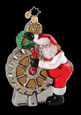 Radko 1015166 Cheery Gear Changer - Mechanic Santa - Retired Ornament