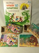 1960'S Walt Disney** Mickey And The Beanstalk Record & 2 Jaymar Puzzles