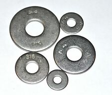 METRIC A4 FLAT FENDER WASHERS STAINLESS M6 PKG OF 25 EA