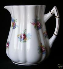 LOVELY VICTORIA BONE CHINA FLORAL CREAM PITCHER-ENGLAND