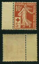 "FRANCE STAMP TIMBRE 147 ""CROIX ROUGE SEMEUSE MODIFIEE 10c+5c ROUGE  ""NEUF xx TTB"